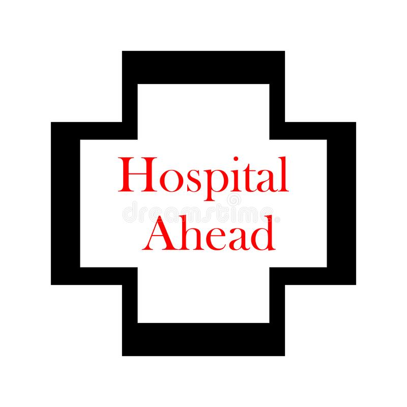 Het ziekenhuis vooruit isometrisch pictogram Element van pictogram van kleuren het isometrische verkeersteken Grafisch het ontwer stock illustratie