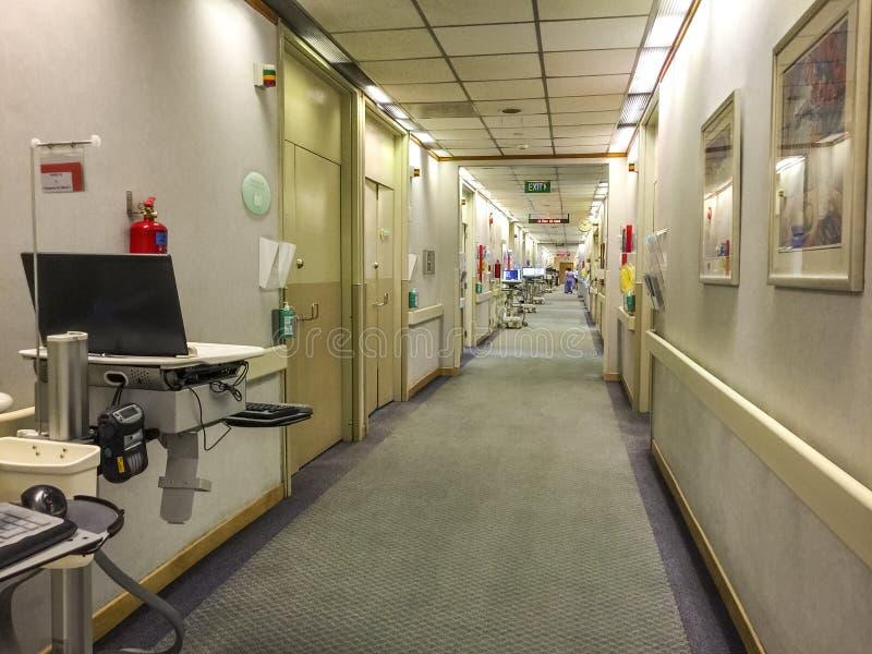 Het ziekenhuis Ward Hallway royalty-vrije stock foto