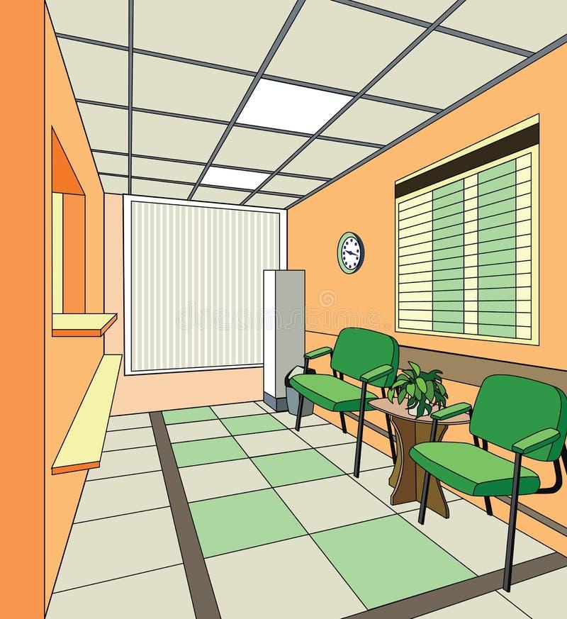 Het ziekenhuisbinnenland royalty-vrije illustratie