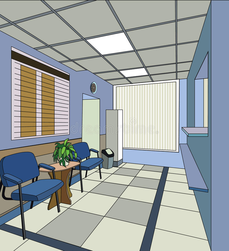 Het ziekenhuisbinnenland stock illustratie