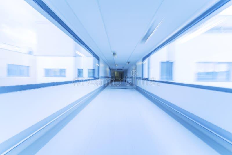 Het Ziekenhuisgang van het motieonduidelijke beeld royalty-vrije stock fotografie