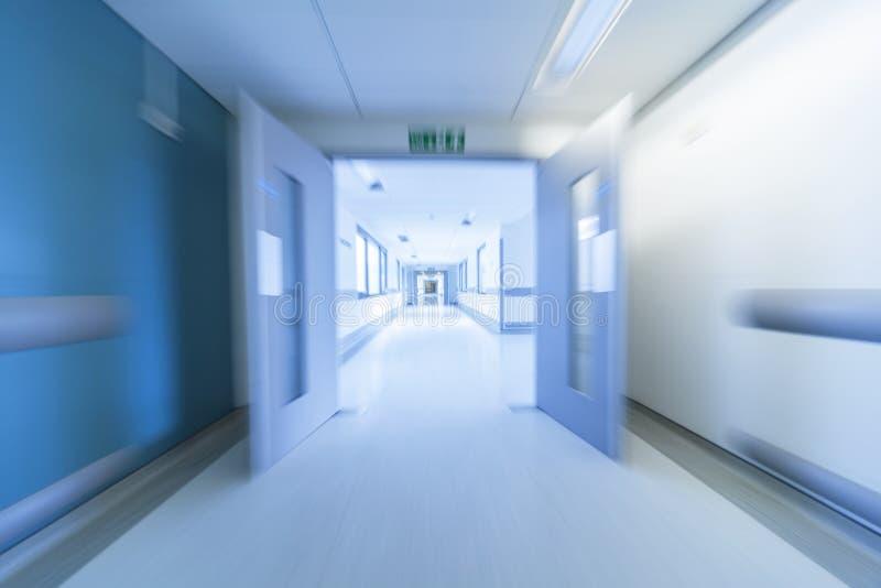 Het Ziekenhuisgang van het motieonduidelijke beeld stock fotografie