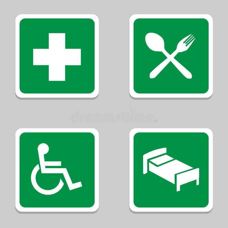 Het ziekenhuispictogrammen geplaatst voor om het even welk gebruik groot Vector eps10 royalty-vrije illustratie