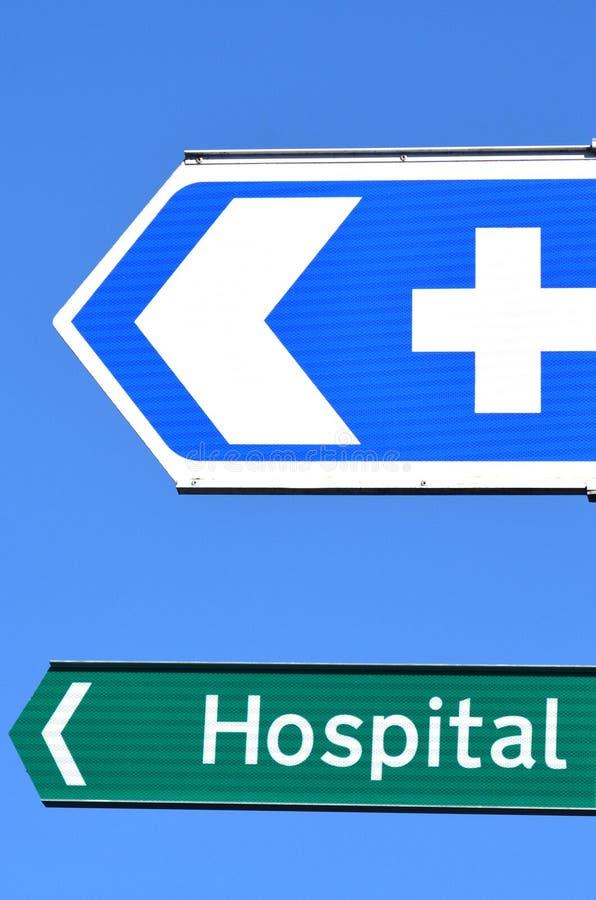 Het ziekenhuisverkeersteken royalty-vrije stock foto's