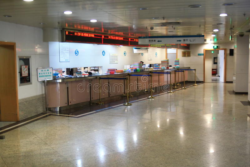 Het ziekenhuiszaal royalty-vrije stock afbeelding