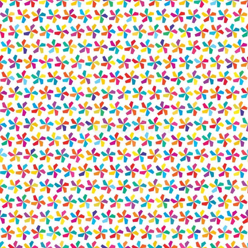 5 het zij naadloze patroon van de straal kleurrijke kleine symmetrie royalty-vrije illustratie