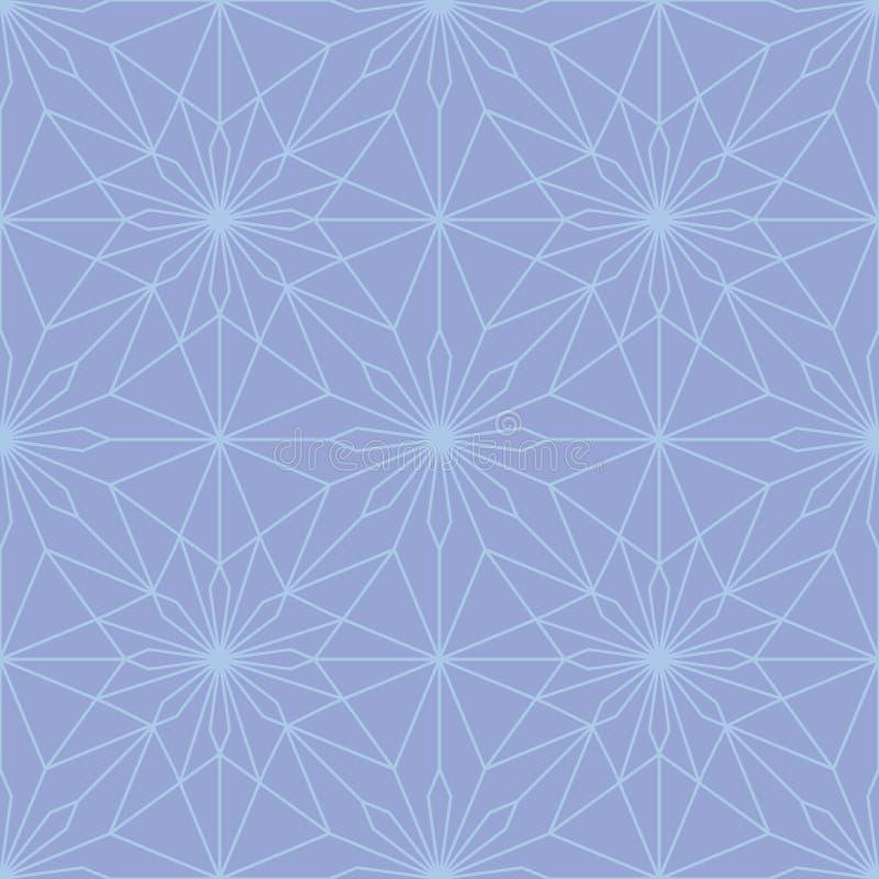 8 het zij van de de symmetriepastelkleur van de sterbloem purpere naadloze patroon stock illustratie