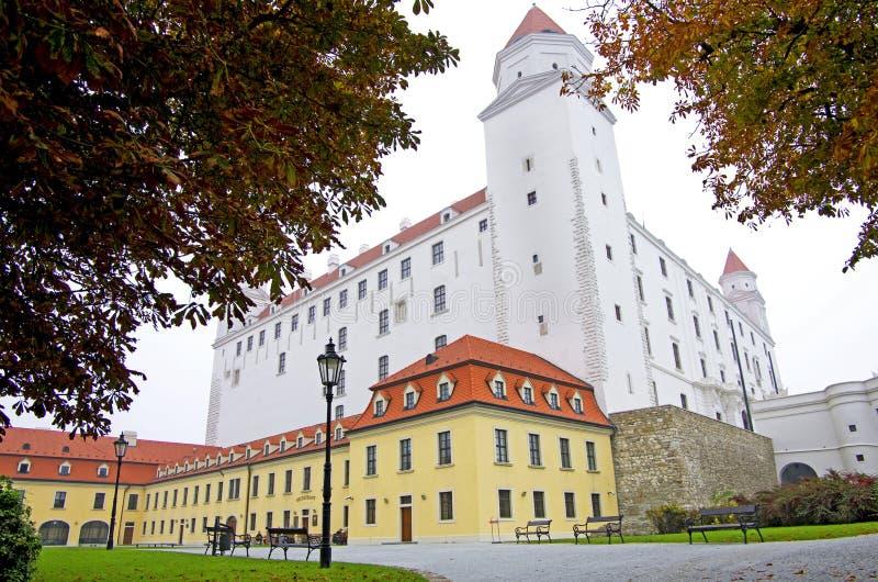 Het zijaanzicht van Bratislava Castle