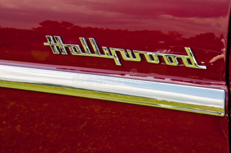 1953 het zijdetail van Hudson Hornet Hollywood royalty-vrije stock foto