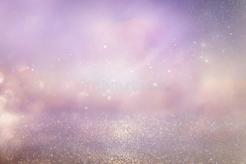het zilver en het roze schitteren uitstekende lichtenachtergrond royalty-vrije stock afbeelding