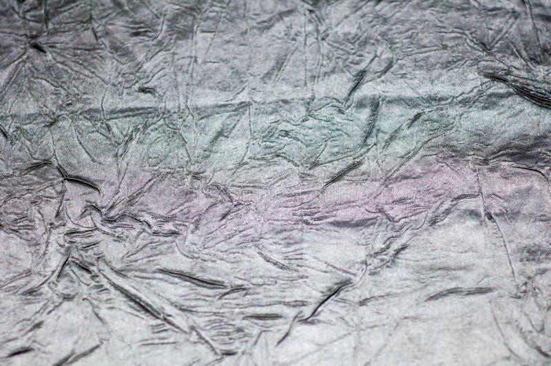 Is het zilver gerimpelde bladmetaal lichte, abstracte beelden stock afbeeldingen