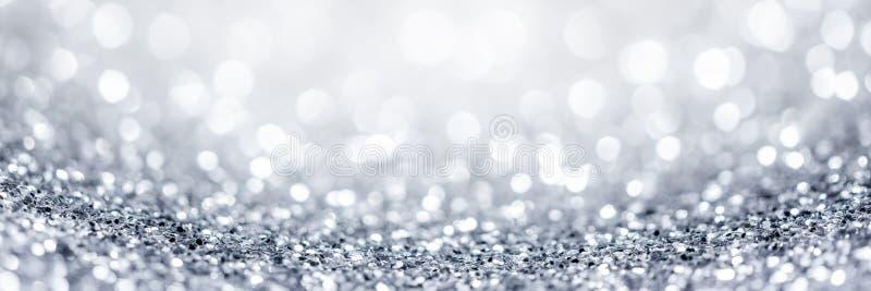 Het zilver schittert achtergrond stock fotografie
