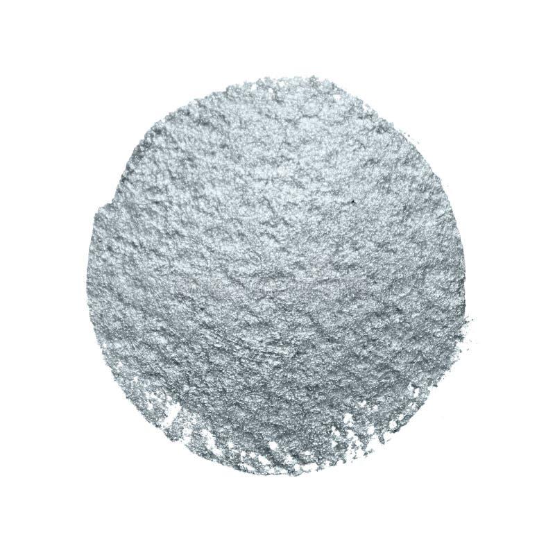 Het zilver schittert vlek van de de scharvlek van de verfborstel de abstracte met smudge textuur op witte achtergrond voor templa stock illustratie