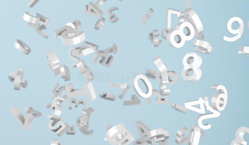 Het zilveren Aantallen Vallen stock illustratie