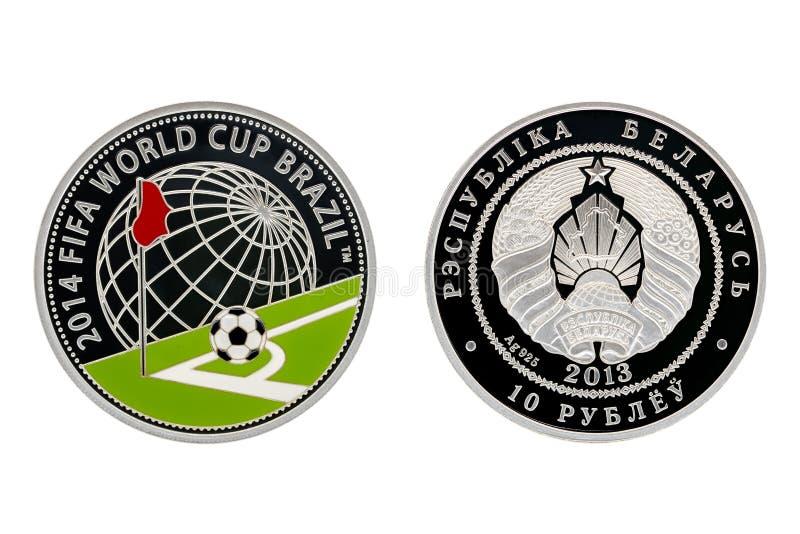 Het zilveren kampioenschap van de muntstuk biathlon wereld stock afbeelding