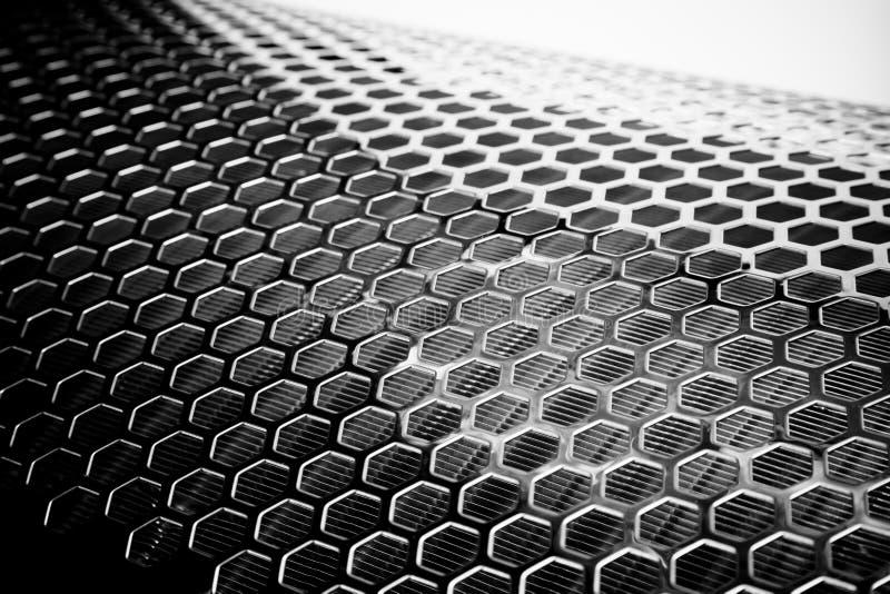 Het zilveren Netwerk van het Metaal stock foto