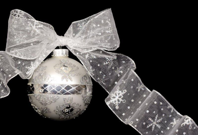 (Het Zilveren) Ornament van Kerstmis stock afbeeldingen