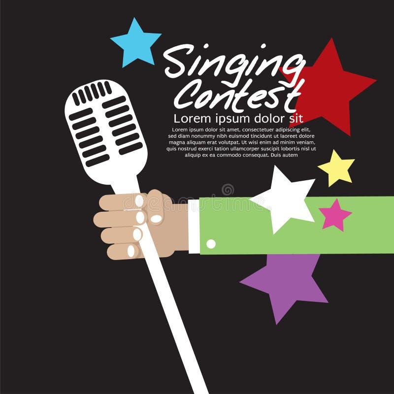 Het zingen Conceptuele Wedstrijd. stock illustratie