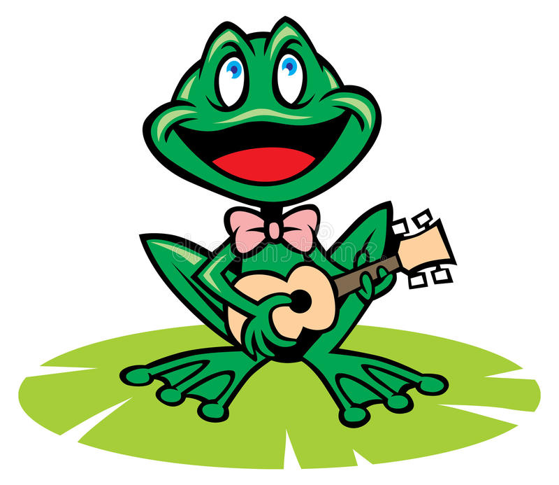Het zingen kikker royalty-vrije illustratie