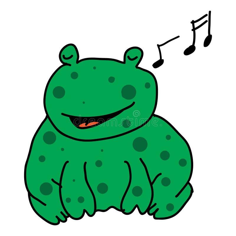 Het zingen kikker vector illustratie