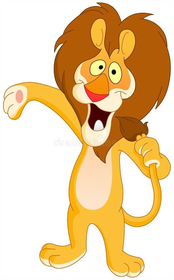 Het zingen leeuw stock illustratie