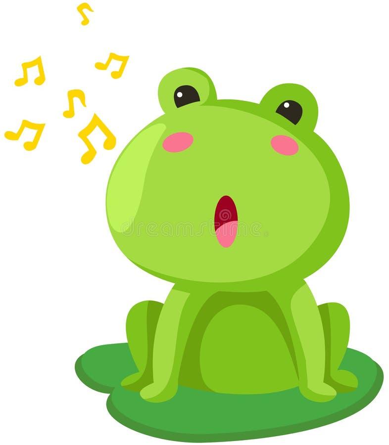 Het zingen van de kikker stock illustratie
