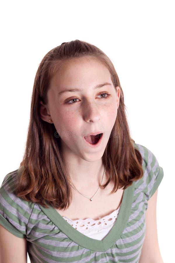 Het Zingen van de tiener royalty-vrije stock fotografie