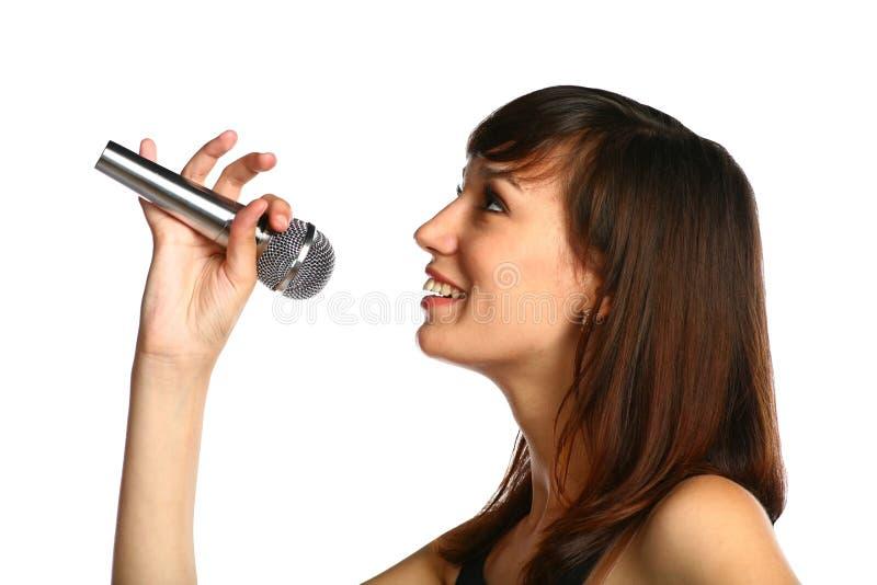 Het Zingen van het meisje stock afbeelding