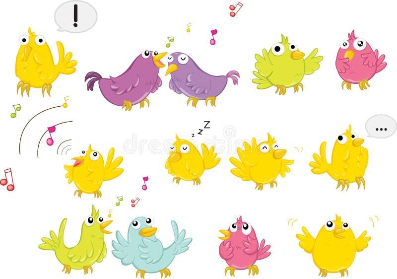 Het zingen van vogels royalty-vrije illustratie
