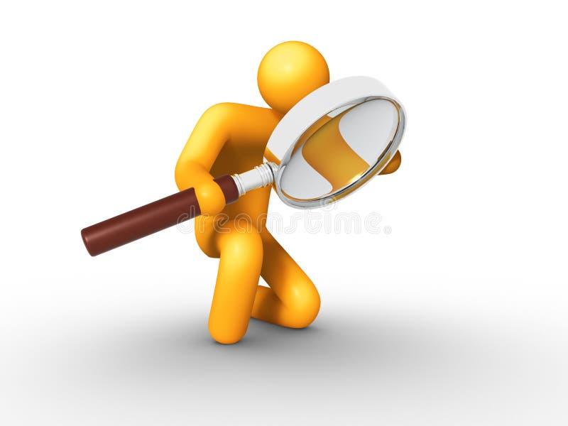 Het zoeken stock illustratie