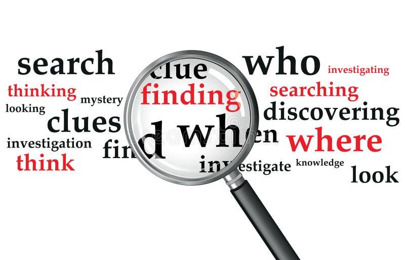 Het zoeken vector illustratie