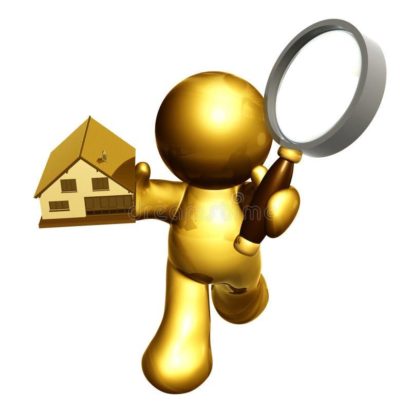 Het zoeken naar bezit stock illustratie