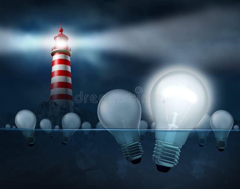 Het zoeken naar de Beste Ideeën royalty-vrije illustratie