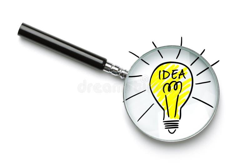 Het zoeken naar een goed idee stock afbeelding