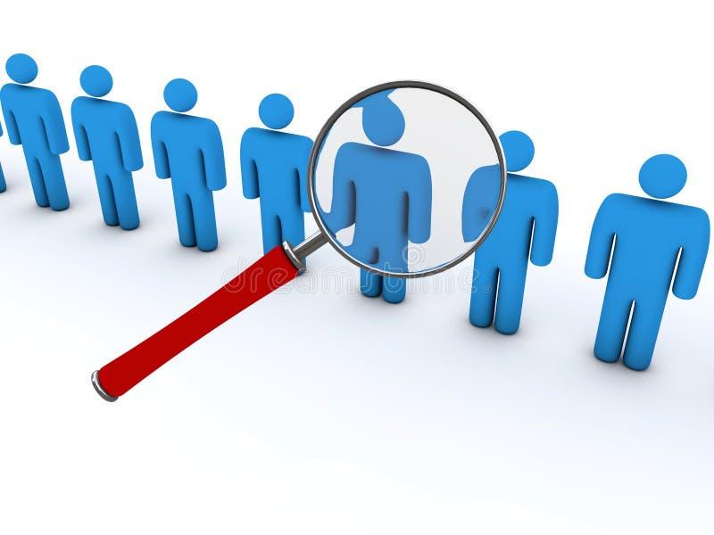 Het zoeken naar mensen vector illustratie
