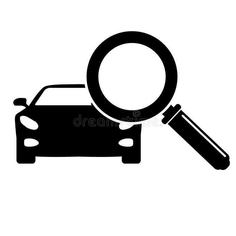 Het zoeken van Auto verkopend pictogram stock afbeeldingen