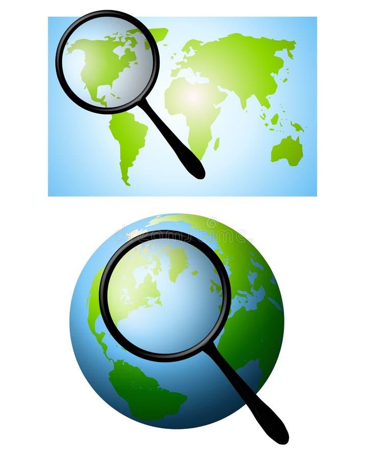 Het zoeken van de Aarde royalty-vrije illustratie