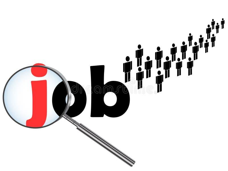 Het zoeken van de baan stock illustratie