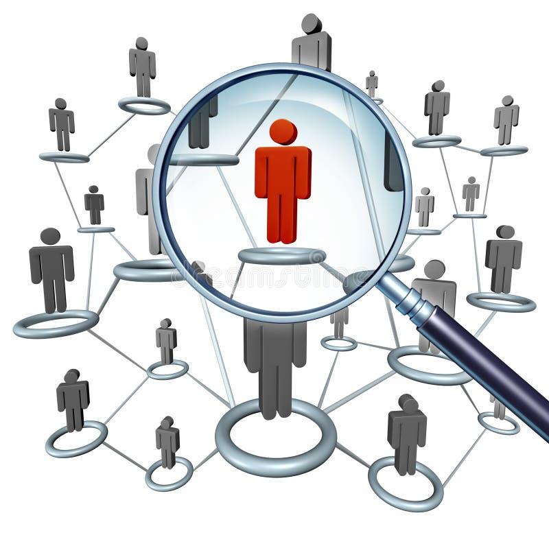 Het Zoeken van de baan royalty-vrije illustratie