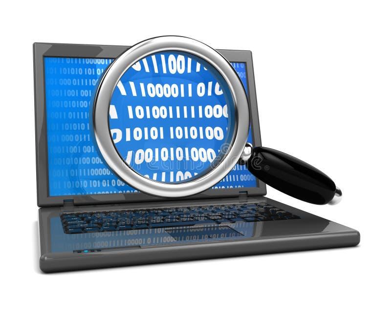 Het zoeken van de informatie stock illustratie
