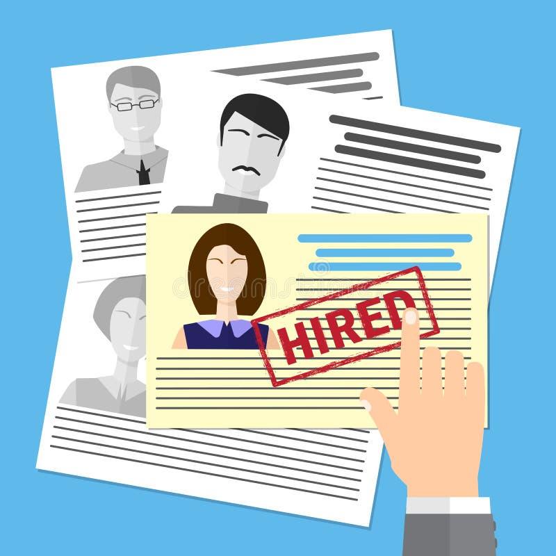 Het zoeken van deskundigen Analyserend personeel hervat Rekrutering, concept personeelsbeheer stock illustratie