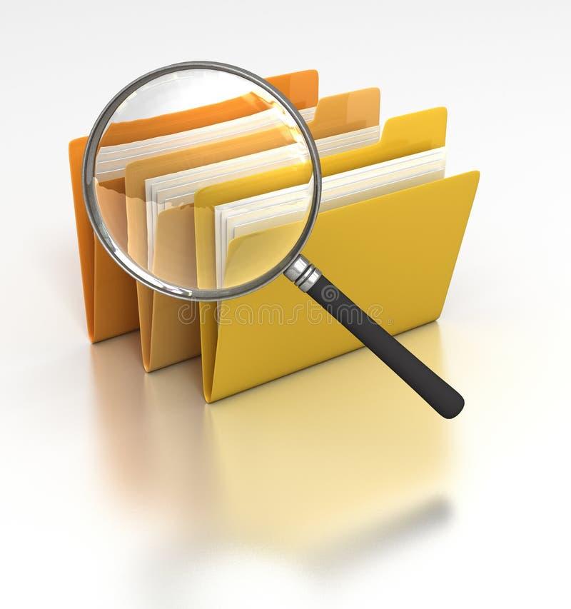 Het zoeken van Dossiers vector illustratie
