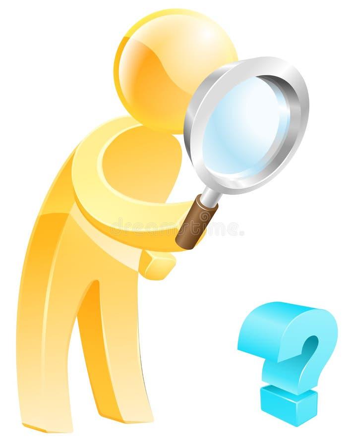 Het zoeken van het antwoordconcept stock illustratie