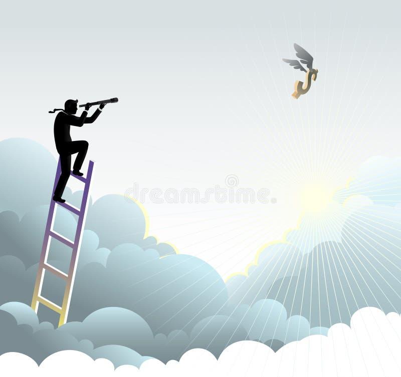 Het zoeken van Hoge Winsten stock illustratie