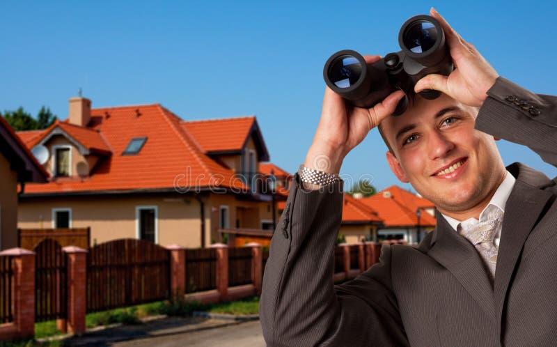 Het zoeken van huis royalty-vrije stock foto