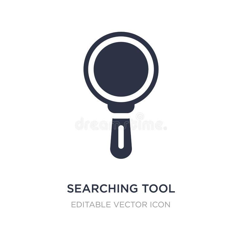 het zoeken van hulpmiddelpictogram op witte achtergrond Eenvoudige elementenillustratie van Hulpmiddelen en werktuigenconcept royalty-vrije illustratie
