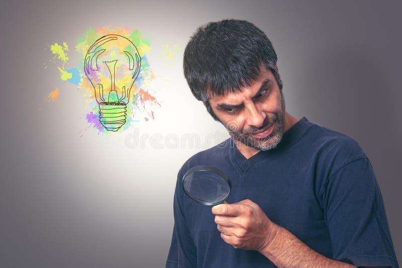 Het zoeken van idee?n stock foto