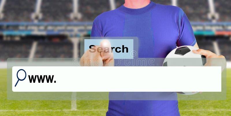 Het zoeken van het Web royalty-vrije stock afbeelding
