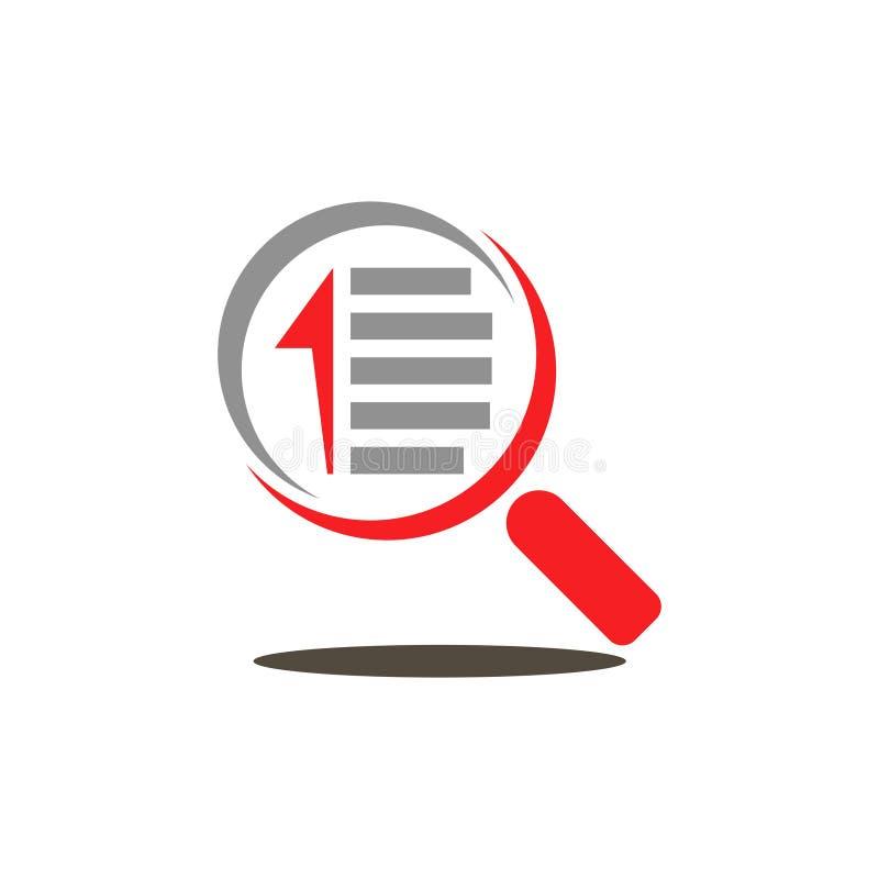 Het zoeken vindt de Gegevens van het Documentdossier met het Overdrijven van Gegevens royalty-vrije illustratie