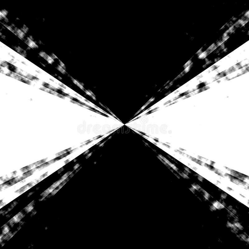 Het Zoemen van B&w Draaikolk vector illustratie